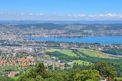 Top-vista de Zurich Imágenes de archivo libres de regalías