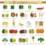Top 25 vitamin E rich foods Stock Images