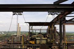 Top of the Vitkovice Iron and Steel Works Blast furnace Royalty Free Stock Photo