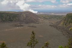 Top of the Volcano on the Big Island. Hawaii Royalty Free Stock Photos