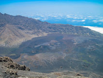 Top of volcano in Cape Verde Islands Royalty Free Stock Photography