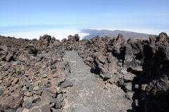 On the top of volcano Teide, Tenerife Stock Image