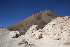 Top of a volcano of Teide Royalty Free Stock Images
