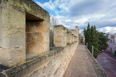 Top of the wall in Alcudia, Majorca Stock Photo