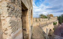 Top of the wall in Alcudia, Majorca Stock Photography
