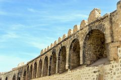Top of the Wall of Sousse, Tunisia stock photography