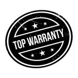 Top Warranty rubber stamp. Grunge design with dust scratches. Effects can be easily removed for a clean, crisp look. Color is easily changed Stock Photos