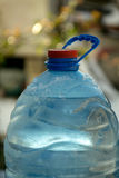 Top of Water bottle neck. Blurred background. Royalty Free Stock Photography