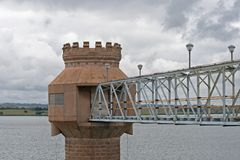 TOP OF WATER INTAKE TOWER Royalty Free Stock Images