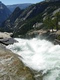 Top of a Waterfall. In Yosemite National Park, CA royalty free stock photography