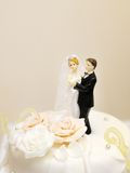 Top of wedding cake Royalty Free Stock Images