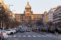 Top of Wenceslas square Stock Photography