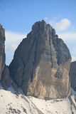 Top west of Lavaredo Stock Photos