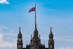 The top of Westminster stock image