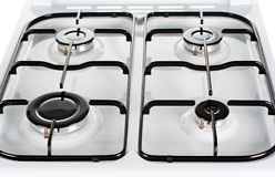 Top of white oven Royalty Free Stock Images