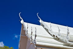 The top white roof of Thai style church Royalty Free Stock Photography