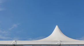 The top of white tent for large event Stock Photography