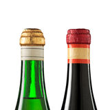 Top of wine bottles Royalty Free Stock Images