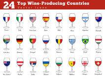 Top wine producing countries Royalty Free Stock Photos