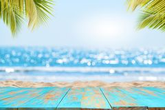 Empty ready for your product display montage. summer vacation background concept