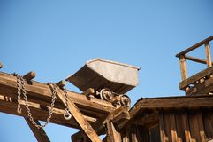 On top of a wooden in Calico Ghost Town California Stock Photography