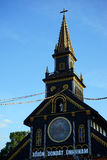 Top of the Wooden Church Royalty Free Stock Photos