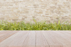 Top wooden table with blur background Royalty Free Stock Image