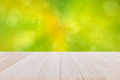 Top wooden table on blur and bokeh background Stock Photography