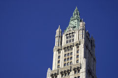 Top of the Woolworth building. Was once the tallest skyscraper until 1930, Manhattan, New York, America, USA Royalty Free Stock Photo