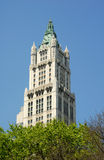 Top of the Woolworth Building in New York Royalty Free Stock Photos