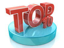 Top 10 words over white background. In the design of information related rating Stock Photos