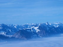 Top of the World. Top view of Niederhorn, Switzerland - feeling at the top of the world stock images