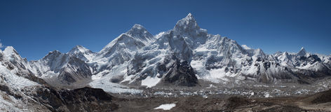 Top of the World. Everest Himalayan Range. View from Kala Pattar mountain Stock Photo