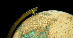Top of the World. Globe focused on Northern Hemisphere and North America Royalty Free Stock Images