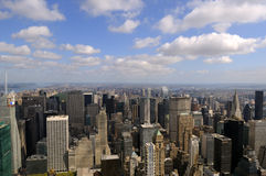 At top of the world. View from the top of the world on New York Royalty Free Stock Photos