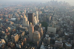 Top of the World. View from the top of the Empire State Building, Manhattan, New York Royalty Free Stock Photo