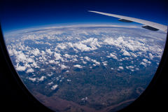 Top of the world. Bird's eye view of the earth Stock Photos