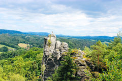 On the top of the world. Top of the world in Germany Stock Photo