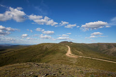 Top of the World Highway. Near the Alaskan/Canadian border in summer royalty free stock image