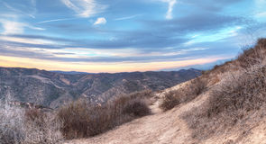 Top of the World hiking trail. In the wilderness of Laguna Beach, California at sunset Stock Photo