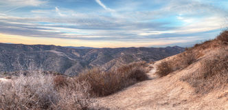 Top of the World hiking trail. In the wilderness of Laguna Beach, California at sunset Royalty Free Stock Photography