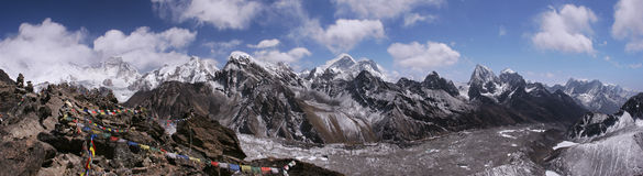Top of the World in Himalayas, Nepal Royalty Free Stock Image