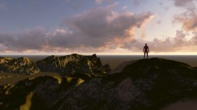 On the top of world. Made in 3d software Stock Photo