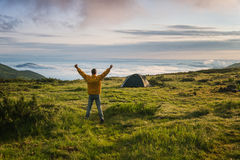 On top of the world Stock Photography