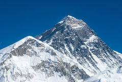 Top of the world, Mt. Everest. Top of Mount Everest viewed from Kala Patthar, Nepal Stock Images