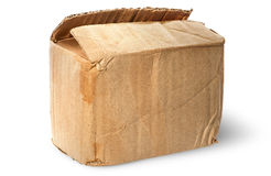 cardboard box. on top worn old cardboard box stock images h