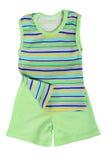 Top y pantalones cortos verdes del verano Fotos de archivo