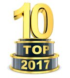 Top 10 of the year Royalty Free Stock Photography