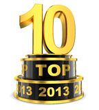 Top 10 of the year. (done in 3d Royalty Free Stock Images