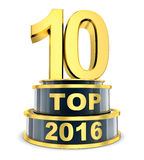 Top 10 of the year Stock Image